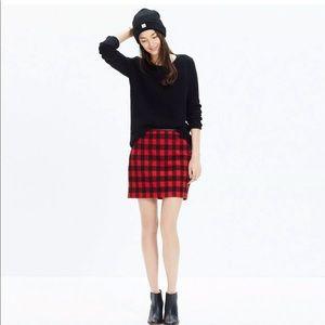 Madewell 2 buffalo plaid red flannel mini skirt